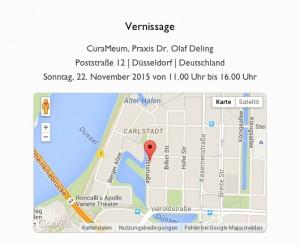 Vernissage 22.11.2015 Adresse